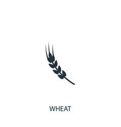 Wheat icon simple gardening element symbol vector