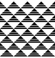 White Black Striped Triangles Pattern vector