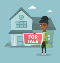 Young african-american broker offering the house vector