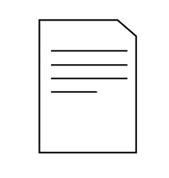 a4 document icon vector image vector image