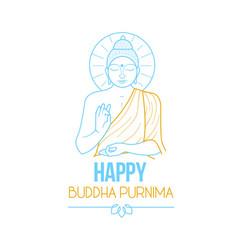 Banner buddha purnima vector
