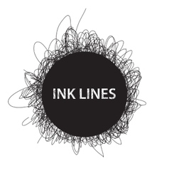 Ink lines background vector image