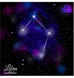 libra constellation with triangular background vector image vector image