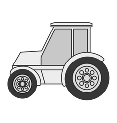 single tractor icon vector image