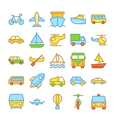 Transport colored icons 2 vector