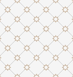 Geometric seamless pattern with stylized stars in vector image