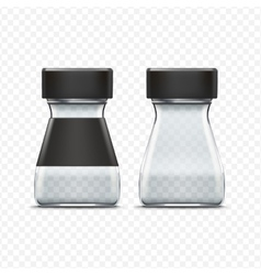 Glass empty jar packaging package isolated vector