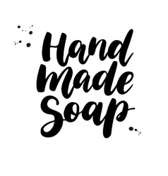 Hand Made Soap lettering Calligraphy vector image vector image