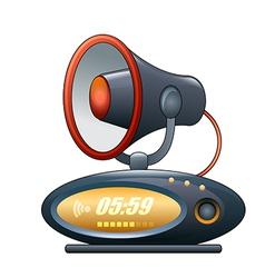 megaphone alarm clock vector image