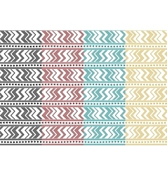 Set of tribal ethnic simple seamless pattern vector image