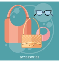Womens fashion accessories vector image vector image