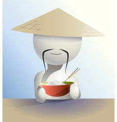 faceless Chinese vector image
