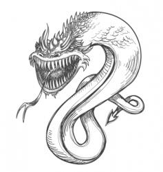 fierce dragon vector image