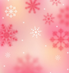 New Year pink wallpaper with snowflakes - vector image vector image