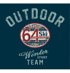 Saint Moritz winter ski team vector image vector image