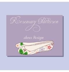 Vintage business card for shoes designer vector image vector image