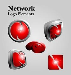 network logo vector image vector image