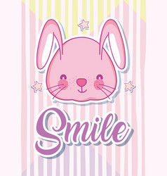 smile message with cute cartoon vector image