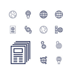 13 world icons vector