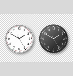 3d realistic simple round white and black vector