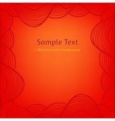 Abstract background Artistic hand drawn frame vector image
