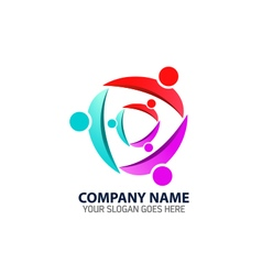 Abstract Family Members Logo Icon vector image