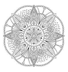 Adult coloring page vector