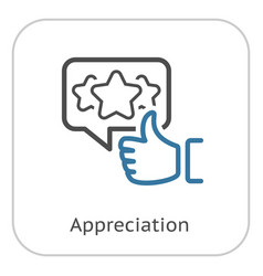 Appreciation line icon vector