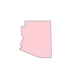 Arizona map isolated on white background vector