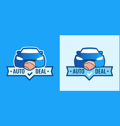 auto deal - logo for car dealership front view of vector image