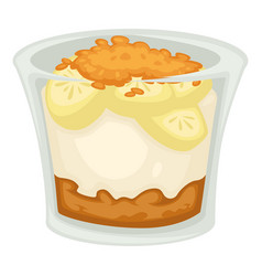 banana dessert isolated fruit sweet food and treat vector image