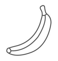 banana thin line icon fruit and vitamin vector image