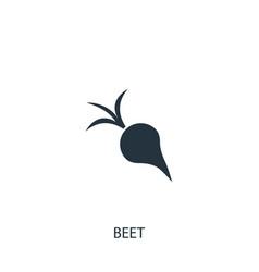 Beet or radish icon simple gardening element vector