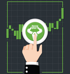 bullish stock market vector image