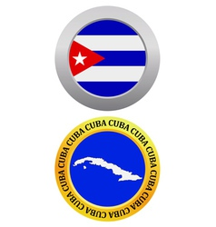 Button as a symbol CUBA vector
