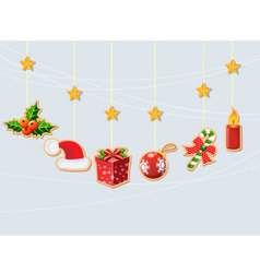 Christmas holiday dresses collection of icons 2 vector image