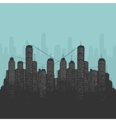 City and Skyscrapers vector image