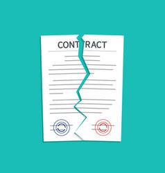 Contract break breach and terminate vector