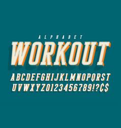 cool 3d design of alphabet typeface font vector image