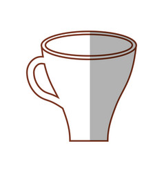 cup coffee drink shadow vector image