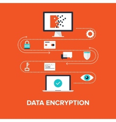 Data Encryption vector image