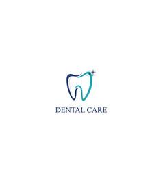 Dental care icon logo template vector