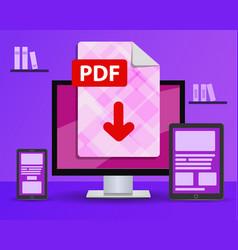 Design banner - download pdf file desktop vector