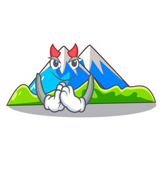Devil mountain scenery isolated from the mascot vector