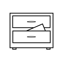 documents archive icon vector image