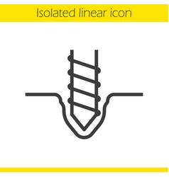 Drilling linear icon vector