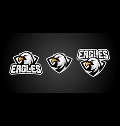 eagle sport gaming logo badges emblem vector image