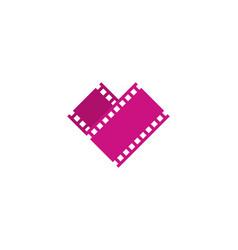 film love logo icon design vector image