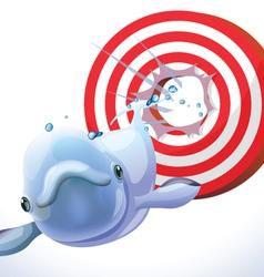 fish hit target vector image