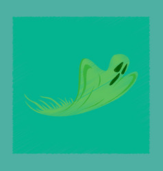 Flat shading style icon ghost vector